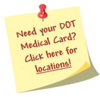 List of DOT Medical Card Locations